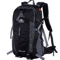 登山包 户外背包 双肩男女多功能休闲旅游旅行背包骑行背包40L50L 黑色经典版 50L (送防雨罩)