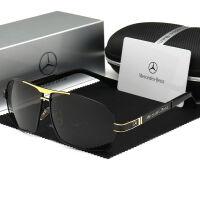 Mercedes Benz新款奔驰高档偏光男士太阳镜时尚驾驶镜男墨镜