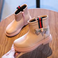 女童马丁靴新款短靴小宝宝英伦风儿童黑色秋冬季皮靴子