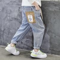 男童裤子春秋款儿童春季牛仔裤男孩长裤