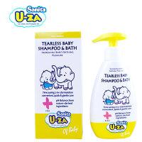 正品U-ZA 温和婴儿童洗发沐浴二合一200ml 进口宝宝滋润洗护用品