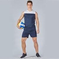 短袖排球服套装男女款排球训练服排球队服比赛服情侣款无袖球衣