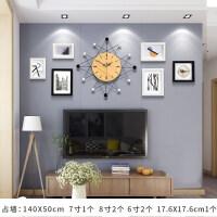 {夏季贱卖}北欧创意钟表挂钟客厅个性时尚现代简约时钟静音家用挂表欧式艺术 北欧小号-6框相框 20英寸以上