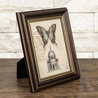 相框摆台创意欧式复古怀旧美式经典5寸6寸7寸8寸10寸A4仿木挂墙