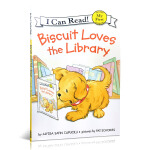 I can read饼干狗系列分级阅读 英文原版 Biscuit Loves the Library my first