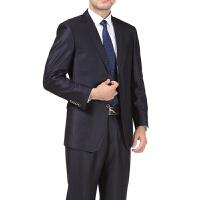 中年男士西服套装爸爸装正装商务休闲婚礼中老年西装男职业装工装 裤腰2尺8 5/84A