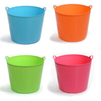 超大号带出水口环保塑料储水桶 儿童沐浴桶 婴儿沐浴盆 杂物桶 桶储物 收纳桶 蓝色