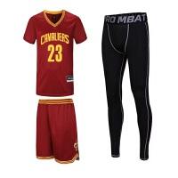 运动套装新款短袖篮球服三件套运动训练比赛球服詹姆斯库里球衣套装可DIY个性定制 5XL 185cm-190cm