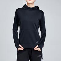 adidas阿迪达斯女服卫衣2019新款连帽套头跑步休闲运动服DQ2606