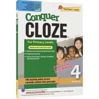 【首页抢券300-100】SAP Conquer Cloze 4 在线读物版 四年级攻克英语系列完型填空练习册 10岁