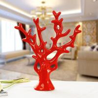 家居创意摆设陶瓷工艺品新房客厅装饰摆件结婚礼物婚庆礼品发财树