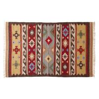 手工地毯客厅沙发茶几毯 长方形羊毛卧室房间床尾床边毯 CYD 51