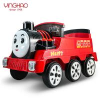 四轮童车可坐人儿童电动车遥控火车魔幻火车火车喷雾双驱动