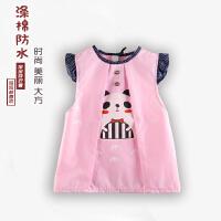 2件宝宝罩衣 儿童无袖防水反穿衣 纯棉防污 幼儿园婴幼儿罩褂