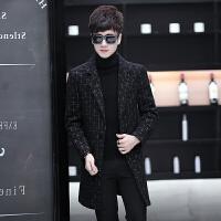 毛呢大衣男中长款韩版修身帅气潮流休闲呢子大衣冬季妮子外套风衣