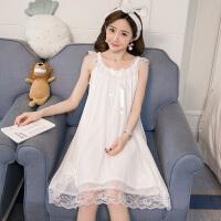 宫廷公主蕾丝吊带睡裙女夏季韩版清新学生睡衣短袖性感家居服