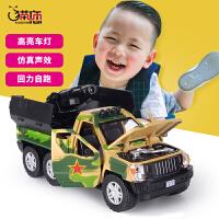 合金声光回力玩具车男孩玩具小汽车合金坦克火箭炮导弹车模型