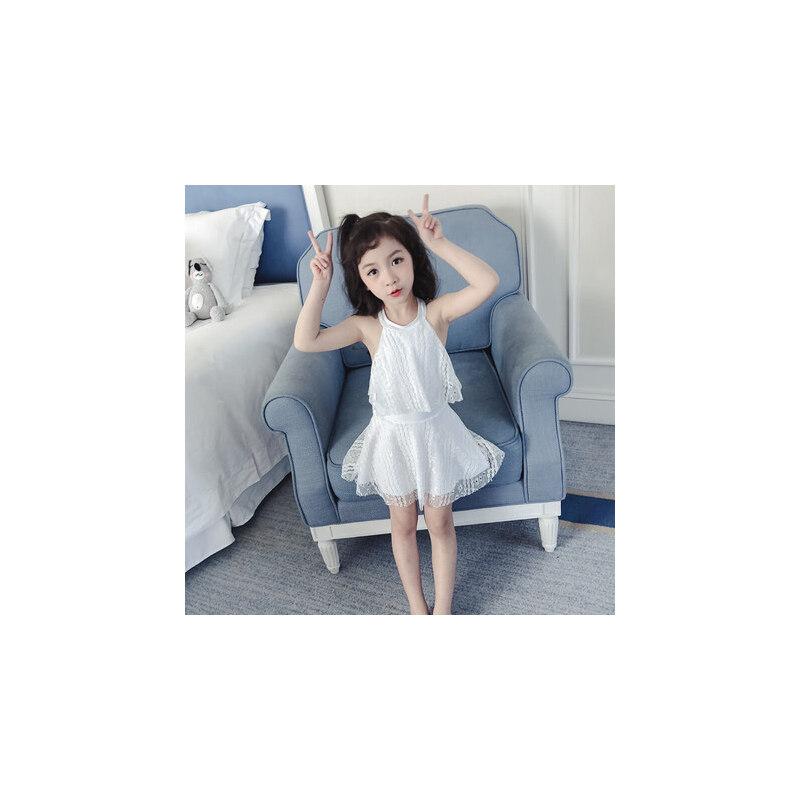 儿童泳衣女游泳衣连体公主裙式泳衣可爱女童泳衣幼中大童 品质保证 售后无忧