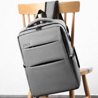 男士商务背包旅行双肩包大容量电脑包韩版休闲中学生书包简约时尚