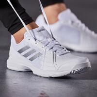 【7.18开抢 满100减20 满279减100】adidas阿迪达斯男子网球鞋2018新款网球比赛训练运动鞋CM77