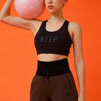 新款 Keep瑜伽女短款上衣罩衣跑步运动健身背心工字速干文胸10406