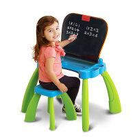点触学习桌可变黑板绘画板儿童游戏桌宝宝双语早教益智玩具