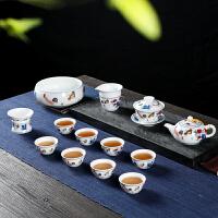 茶具套装家用简约复古中式景德镇陶瓷器功夫茶杯子茶壶礼盒装