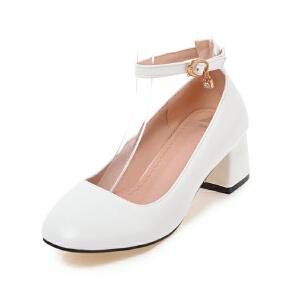 ELEISE美国艾蕾莎新品099-C3-2甜美超纤皮中跟女士单鞋