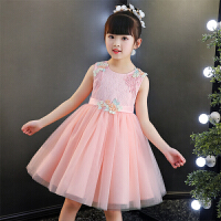 女童甜美蓬蓬公主裙浪漫可爱背心裙子主持钢琴表演礼服裙