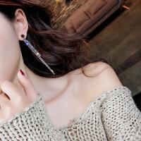 925银针一款两戴耳环长款水钻水晶流苏耳坠女气质个性耳钉