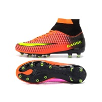 新款鸳鸯刺客高帮足球鞋男ag长钉比赛男女儿童足球鞋