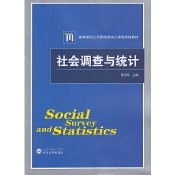 【旧书二手书9成新】社会调查与统计 董海军 9787307150881 武汉大学出版社