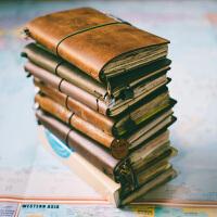 瑕疵捡漏牛皮笔记本日式复古旅行手帐活页日记本记事本子tn手账本