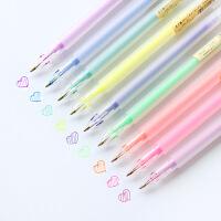 韩国文具办公用品 简约透明磨砂水彩笔彩色笔中性笔0.5mm水笔