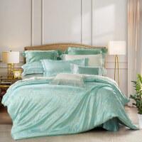 百丽丝家纺 水星出品 涤棉提花 四件套 悠悠岁月 床上用品