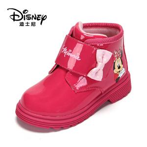 鞋柜/迪士尼冬款女童鞋米妮休闲时尚童靴冬靴1