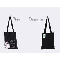 白/黑色购物包 手提学生装书大袋子便当包女环保购物袋