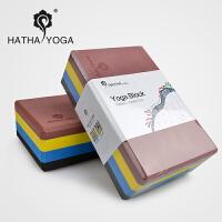哈他泡沫轴高密度瑜伽砖头泡沫砖高密度eva正品瑜伽辅助用品工具