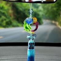 实心琉璃车挂 貔貅汽车挂件 创意车内后视镜吊坠饰品汽车用品