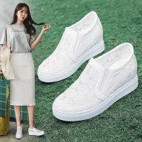 平底休闲单鞋鞋子透气小白鞋女春款夏季新款百搭内增高女鞋