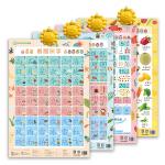 百宝象有声互动学习挂图:看图识字+学数字+汉语拼音+水果蔬菜(套装4册)