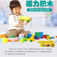儿童磁力积木婴幼儿启蒙磁力片建构男孩女孩益智玩具磁性拼插玩具