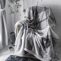 毛毯加厚双层云毯保暖被子冬季午睡珊瑚绒毯子双人婚庆盖毯空调毯 200cmx230cm【约2.8kg】