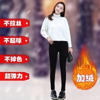 打底裤女秋冬新款韩版高腰显瘦加绒加厚大码黑色外穿小脚裤子