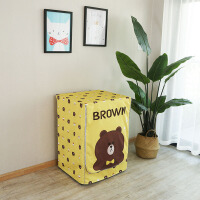 洗衣机罩滚筒防水防晒海尔美的小天鹅西门子通用全自动防尘罩 (防水防晒)布朗熊 18年全新款