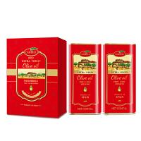 西班牙原装进口 橄倍尔特级初榨橄榄油1L*2典雅礼盒 食用油 酸度≤0.4