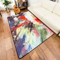 现代欧式抽象沙发地毯 客厅茶几长方形卧室房间床边床前环保地垫