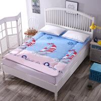 学生床垫宿舍单人0.9上下铺1.2米1.0榻榻米垫被床褥子1.8米1.5m床 湖蓝色 扬帆起航