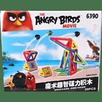 趣智磁力积木百变 提拉磁力片磁性积木拼装构建礼物 愤怒的小鸟磁力片6390