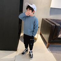 男童毛衣套头春秋款洋气童装儿童针织衫